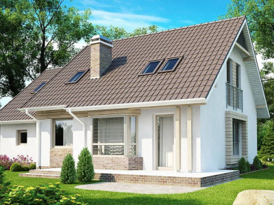 Z107 - Проект стильного выгодного и функционального дома.