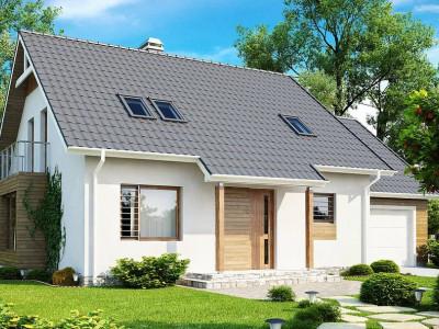 Z108 - Проект функционального и удобного дома с комнатой над гаражом.