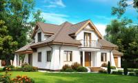 Z109 - Удобный дом в классическом стиле с красивыми мансардными окнами и балконом.