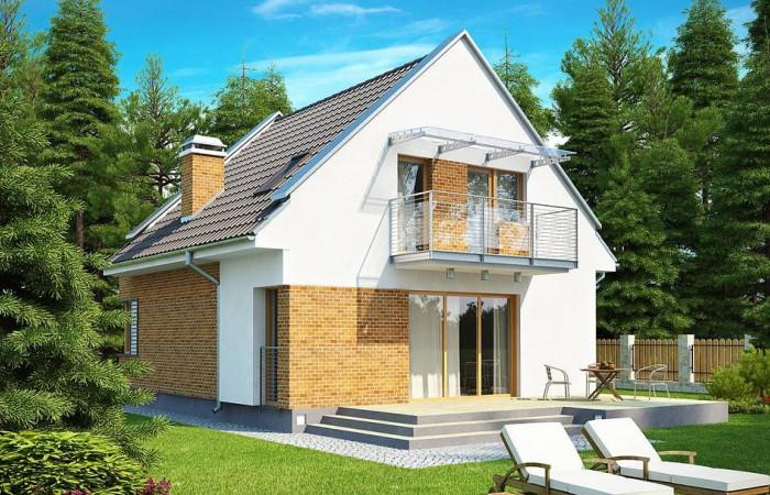 Z112 - Компактный традиционный дом с современными элементами дизайна фасадов.