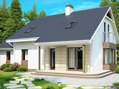 Z120 - Выгодный в строительстве и эксплуатации дом с дополнительной спальней на первом этаже.