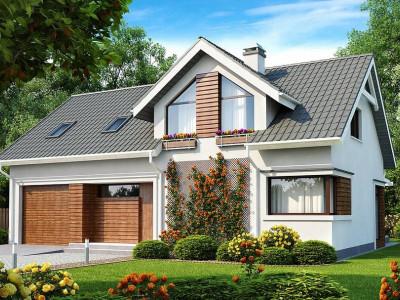 Z122 - Дом со встроенным гаражом, красивым мансардным окном и вторым светом над гостиной.