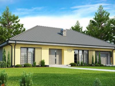 Z123 - Одноэтажный дом традиционного характера с тремя удобными спальнями и встроенным гаражом.