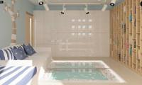 Z124 - Проект функционального дома с эркером в столовой дополнительной спальней на первом этаже.