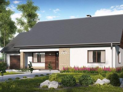 Z131 - Проект традиционного одноэтажного дома с возможностью обустройства мансарды.