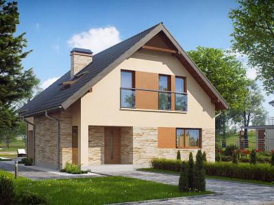Z134 - Проект аккуратного и удобного дома с мансардой.