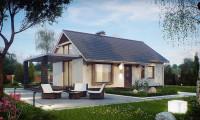 Z139 - Маленький и функциональный одноэтажный дом, выгодный в строительстве и эксплуатации.