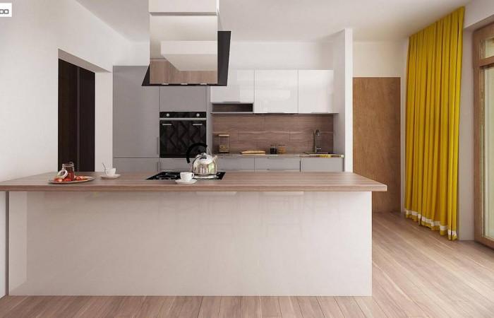 Z140 v1 - Вариант проекта Z140 с фронтальным расположением кухни.
