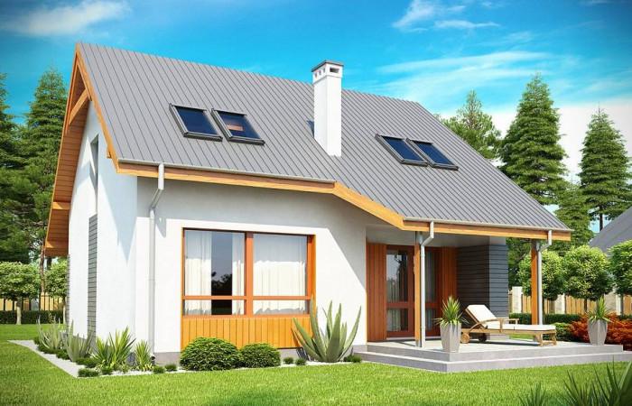 Z146 - Проект небольшого практичного дома, выгодного в строительстве и эксплуатации.