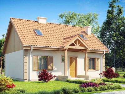 Z14 - Функциональный и уютный дом с дополнительной спальней на первом этаже. Простой и экономичный в строительстве.
