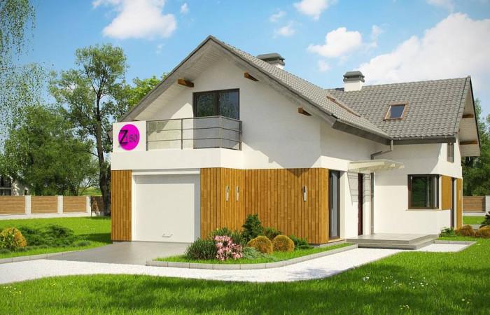 Z150 GL - Версия проекта Z150 с гаражом вместо дополнительного помещения.