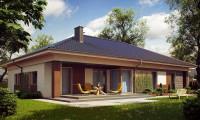 Z153 - Проект просторного одноэтажного дома с 4 спальнями.
