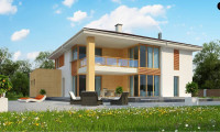 Z156 A - Проект комфортабельного двухэтажного коттеджа современного дизайна