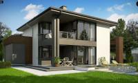 Z156 A minus - Уменьшенная версия проекта z156 с гаражем и стильным фасадом