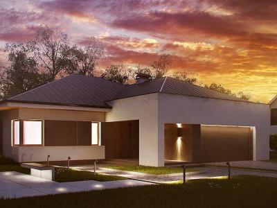 Z158 - Комфортный элегантный дом с тремя спальнями и выступающим фронтальным гаражом.