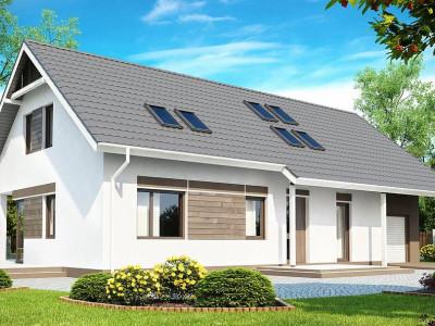 Z160 - Комфортабельный дом со встроенным гаражом, угловой террасой и кабинетом на первом этаже.