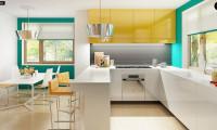 Z162 - Компактный и функциональный дом с кабинетом на первом этаже и с эркером в обеденной зоне.