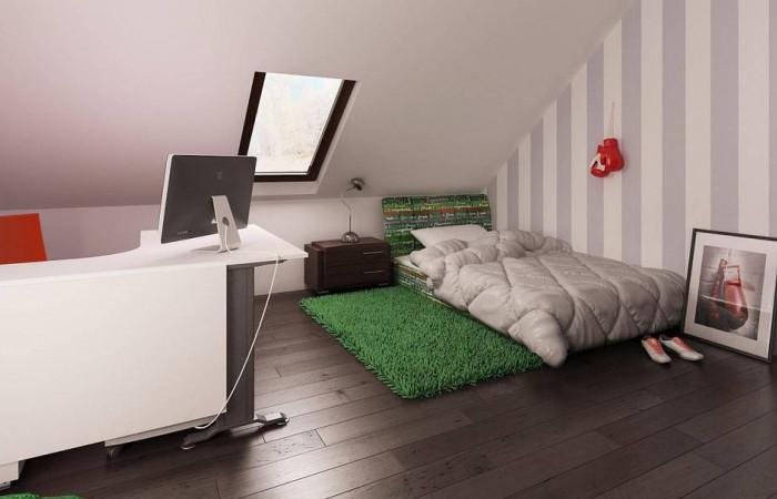 Z164 - Проект дома в традиционном стиле простой формы с двускатной крышей.