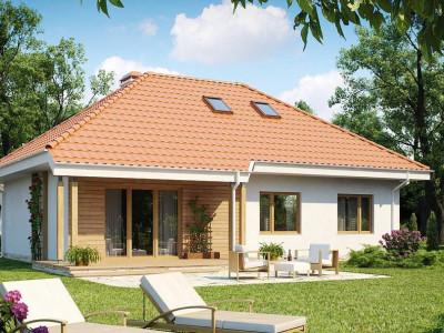 Z169 - Одноэтажный дом в традиционном стиле с возможностью обустройства чердачного помещения.