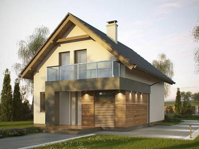 Z174 - Компактный и удобный дом традиционной формы, подходящий, также, для узкого участка.
