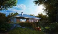 Z176 - Практичный одноэтажный дом традиционной формы с многоскатной крышей.