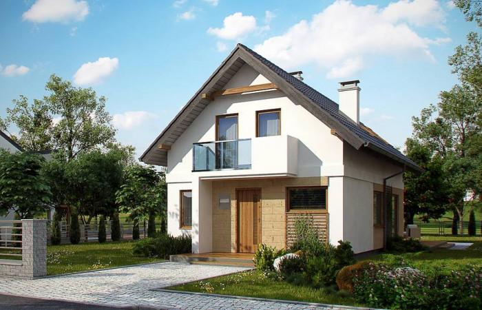 Z177 - Аккуратный, практичный дом, также для узкого участка.