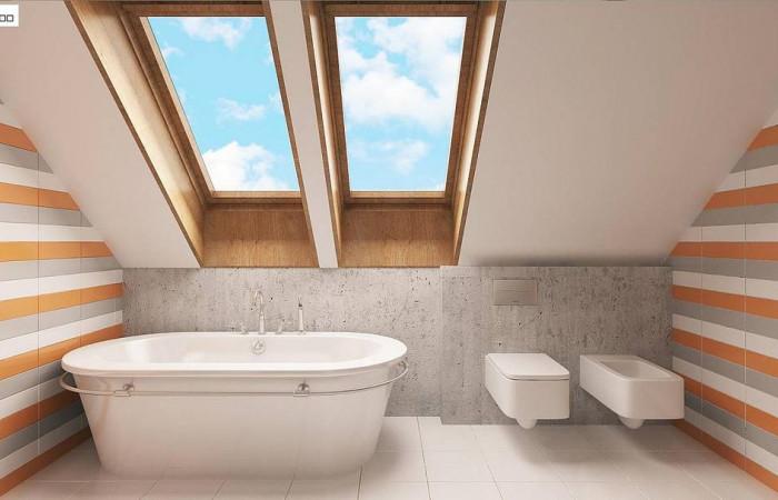 Z178 - Элегантный дом простой формы со встроенным гаражом, эркером и балконом над ним.