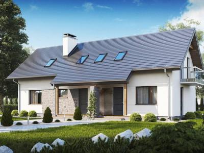 Z184 - Простой и функциональный двухсемейный дом с отдельными входами.