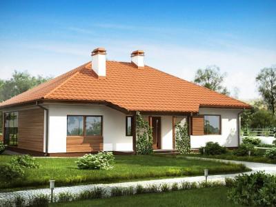 Z185 - Традиционный одноэтажный дом с крытой террасой и оранжереей.