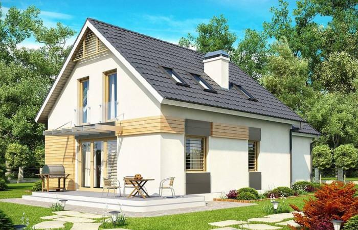 Z192 - Проект дома с гаражом, с возможностью его использования в качестве двухсемейного.
