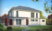Zx6 - Комфортный двухэтажный дом с террасой над гаражом и навесом для гостевой машины.