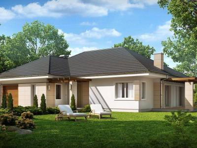 Z201 - Практичный одноэтажный дом с гаражом для одной машины и возможностью адаптации чердачного помещения.