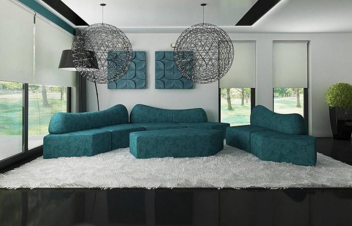 Zx22 - Современный двухэтажный дом с гаражом и террасой, спальней на первом этаже и ванной комнатой