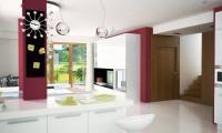 Zx29 k - Комфортабельный двухэтажный дом простого современного дизайна. Кирпичная облицовка фасадов.