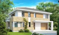 Zx29 - Просторный двухэтажный дом минималистичного современного дизайна.