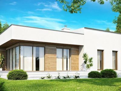 Zx35 - Современный функциональный дом с большой площадью остекления в гостиной.
