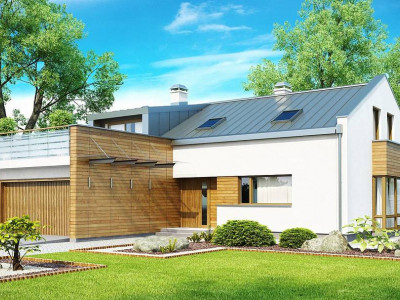 Zx36 - Элегантный просторный дом современного дизайна с пятью спальнями и террасой на втором этаже.