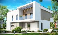 Zx39 - Просторный дом современного дизайна с гаражом и кабинетом на первом этаже.