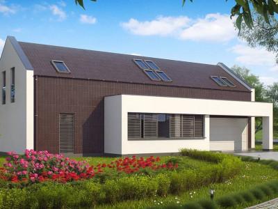Zx48 - Дом современного минималистичного дизайна с двумя дополнительными спальнями на первом этаже.
