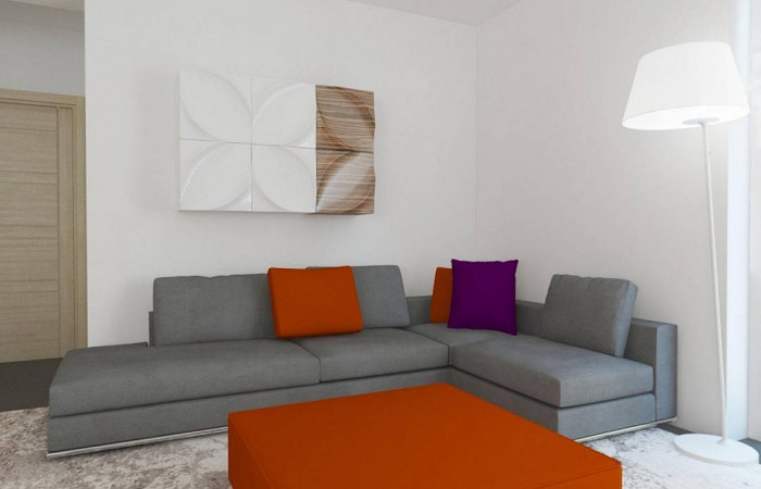 Z204 - Проект функционального одноэтажного дома. Ночная зона во фронтальной части, кухня со стороны сада.