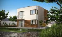 Zx51 - Компактный дом в стиле современного кубизма с тремя спальнями.