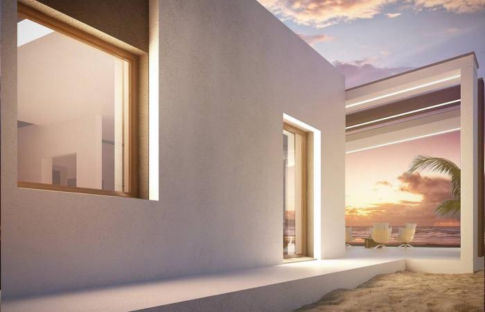 Zx57 - Проект современного дома в стиле хай-тек с двумя спальнями.