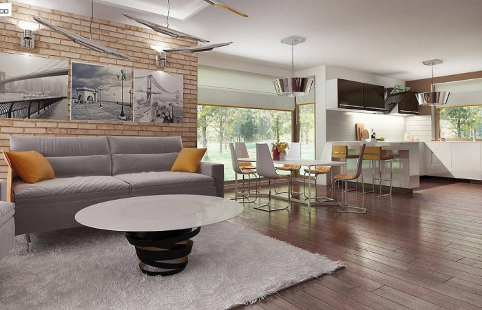 Z205 - Практичный одноэтажный дом с четырьмя спальнями и гаражом.