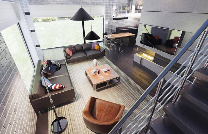 Zx63 B + s - Проект двухэтажного дома Zx63 B + адаптированный под строительство в сейсмических районах