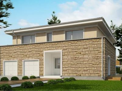 Zx66 - Проект комфортной двухэтажной виллы в традиционном стиле.