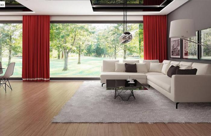 Zx72 - Современный дом с 4 спальнями, гаражом на 2 машины и большими окнами