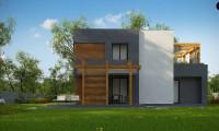 Zx73 - Двухэтажный коттедж современного лаконичного дизайна