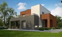 Zx74 - Современный дом с гаражом на 2 машины и террасой на первой