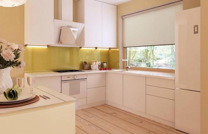 Z207 - Функциональный одноэтажный дом с фронтальным гаражом для двух авто, большим хозяйственным помещением, с кухней со стороны сада.