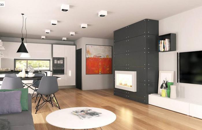 Z208 - Современный одноэтажный дом необычного дизайна.